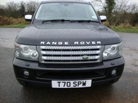 USED 2008 LAND ROVER RANGE ROVER SPORT 2.7 TDV6 SPORT HSE 5d AUTO 188 BHP Range Rover Sport, 2.7tdv6, HSE in Java black with black leather interior.