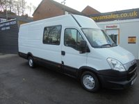 2012 IVECO DAILY 2.3 35S13SV 1d 130 BHP  JUMBO LONG CUBE CREW CAB SIX SEAT FITTED WITH TOW BAR STEP ONE COMPANY OWNER VAN FROM NEW  £5950.00