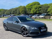 USED 2012 61 AUDI A7 3.0 TDI S LINE 5d AUTO 204 BHP VEHICLE SPEC : FULL SERVICE HISTORY, SATELITE NAVIGATION, FULL S-LINE LEATHER INTERIOR, ALLOY WHEELS, ELECTRIC SEATS, BLUE-TOOTH, REMOTE LOCKING, PADDLE SHIFT, KEYLESS GO, DAB-RADIO, ELECTRIC WINDOWS, MEMORY DRIVERS SEAT, CRUISE CONTROL, CLIMATE CONTROL, PARKING SENSORS, REAR SPOILER, ELECTRIC BOOT LID,