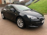 USED 2012 VAUXHALL ASTRA 2.0 GTC SRI CDTI S/S 3d 162 BHP 1 PREVIOUS KEEPER *  FULL SERVICE RECORD +   FRONT AND REAR PARKING AID + MOT NOVEMBER 2019 +