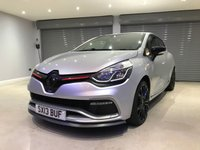 "USED 2013 13 RENAULT CLIO 1.6 RENAULTSPORT LUX 5d 200 BHP CUP CHASSIS UPGRADE + 18"" GLOSS BLACK ALLOY WHEELS + SATELLITE NAVIGATION"