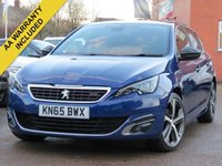 USED 2015 65 PEUGEOT 308 1.6 BLUE HDI S/S GT LINE 5d 120 BHP NAVIGATION, REVERSING CAMERA + FULL SERVICE HISTORY
