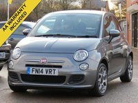 USED 2014 14 FIAT 500 1.2 S 3d 69 BHP 3 MONTHS EXTENDABLE AA WARRANTY INCLUDED