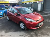 2010 FORD FIESTA 1.2 EDGE 3d 81 BHP IN METALLIC RED WITH 100000 MILES NEW SHAPE £3299.00