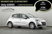 USED 2017 67 PEUGEOT 208 1.2 PURETECH ACTIVE 5d 82 BHP FACEBOOK SPECIAL OFFER