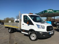 USED 2016 16 FORD TRANSIT 2.2 350 C/C DRW 1d 125 BHP Only 48,000 Miles, 13FT Alloy Dropside, One Owner, 125 BHP, Finance Arranged.