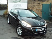 USED 2017 67 PEUGEOT 208 1.2 PURETECH ACTIVE 5d 82 BHP ONE Owner Touch Screen Monitor with Bluetooth