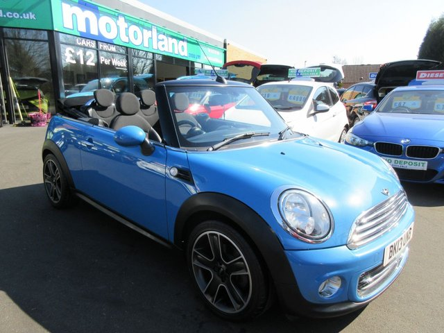 USED 2013 13 MINI CONVERTIBLE 1.6 COOPER 2d 122 BHP **JUST ARRIVED ** CONVERTIBLE