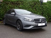 """USED 2013 12 MERCEDES-BENZ A CLASS 1.8 A200 CDI BLUEEFFICIENCY SPORT - BLACK PACK 5d 136 BHP Full Service History, Sat Nav, Black Pack, £30 Tax Per Year, 17"""" Graphite Grey Alloy Wheels, Climate Control, Bluetooth, Cruise Control, Tinted Glass, Excellent Fuel Economy, Voice Command, Auto Lights, Drive Away In Under 1 Hour"""
