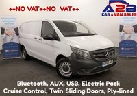 2015 MERCEDES-BENZ VITO 1.6 109 CDI 90 BHP  ++ NO VAT TO PAY ++ Bluetooth, Cruise Control, Electric Pack, Twin Side Doors,  Ply-lined £9480.00