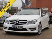 USED 2012 12 MERCEDES-BENZ C CLASS 2.1 C220 CDI BLUEEFFICIENCY AMG SPORT 2d AUTO 170 BHP NATIONWIDE DELIVERY AND FINANCE AVAILABLE