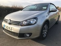 2013 VOLKSWAGEN GOLF 1.6  TDI BLUEMOTION S CONVERTIBLE £6295.00