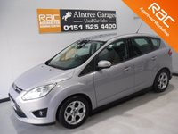 USED 2013 13 FORD C-MAX 1.6 ZETEC TDCI 5d 114 BHP OWNER WITH FULL SERVICE HISTORY 5 STAMPS  FINISHED IN GLEAMING SILVER  METALLIC GREAT FAMILY CAR WITH SEVEN SEATS AND REAR TABLES, FRONT FOG LAMPS, BRUSHED ALLOY ROOF RAILS,VOICE COMMAND BLUETOOTH PHONE PREP, MULTI FUNCTION STEERING WHEEL, AUX USB, ELEC MIRRORS, ELEC FRONT AND REAR WINDOWS, ICE COLD AIR CON