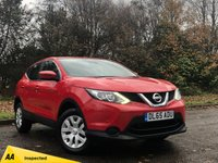 USED 2015 65 NISSAN QASHQAI 1.2 VISIA DIG-T SMART VISION 5d 113 BHP LOW MILEAGE FAMILY SUV, BLUETOOTH CONNECTION