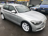 2011 BMW 1 SERIES 1.6 118I URBAN 5 DOOR AUTOMATIC 168 BHP IN SILVER WITH WHITE WHEELS AND ONLY 36000 MILES. £9999.00