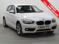 USED 2015 65 BMW 1 SERIES 1.5 116D SE 5d 114 BHP 1 Owner, Full BMW Service History being serviced in January 2017 at 16,064 miles and September 2018 at 33,527 miles and this stunning BMW 1 Series in beautiful Alpine White comes with an MOT until 13th September 2019. Full SE Spec including Bluetooth, Air Conditioning, USB/AUX, Leather Multi Functional Steering Wheel and £0 Road Fund Licence. Nationwide Delivery Available. Finance Available at 9.9% APR Representative.