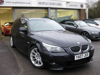 USED 2007 07 BMW 5 SERIES 3.0 525D M SPORT TOURING 5d AUTO 195 BHP Navigation Media Package Heated Seats Xenon Headlights Rain sensor Bluetooth