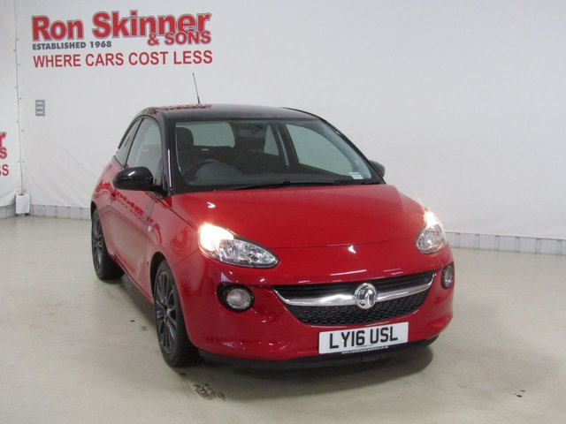 View our 2016 16 VAUXHALL ADAM 1.2 JAM 3d 69 BHP