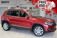 USED 2015 65 VOLKSWAGEN TIGUAN 2.0 MATCH EDITION TDI BMT 4MOTION DSG 5d AUTO 148 BHP vw service history VW SERVICE HISTORY + SATELLITE NAVIGATION + BLUETOOTH + FOUR WHEEL DRIVE + PARKING SENSORS + CRUISE CONTROL + AIR CONDITIONING
