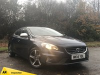 USED 2014 14 VOLVO V40 1.6 D2 R-DESIGN 5d 113 BHP 1/2 LEATHER HEATED INTERIOR, BLUETOOTH