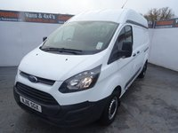 USED 2016 16 FORD TRANSIT CUSTOM 2.2 290 LR P/V 1d 99 BHP FORD CUSTOM HIGH ROOF WITH WHEEL CHAIR RAMP IN REAR