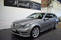 USED 2012 12 MERCEDES-BENZ C CLASS 2.1 C250 CDI BLUEEFFICIENCY SPORT 5d 202 BHP ESTATE 7 MERCEDES STAMPS TO 83K MILE S- FULL LEATHER - AMG SPORT - POWERBOOT - AMG ALLOYS