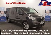 2017 RENAULT TRAFIC 1.6 DCi BUSINESS PLUS 120 BHP Long Wheel Base, Air Con, Bluetooth, DAB Radio, Rear Parking Sensors, Ply-lined £11480.00