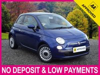 USED 2010 10 FIAT 500 1.2 LOUNGE 3DR PANORAMIC GLASS ROOF AIR CON ALLOYS