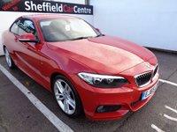 2015 BMW 2 SERIES 2.0 220D M SPORT 2d 188 BHP £15775.00