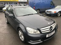 2013 MERCEDES-BENZ C CLASS 2.1 C220 CDI BLUEEFFICIENCY EXECUTIVE SE 5d AUTO 168 BHP IN METALLIC GREY WITH BLACK LEATHER INTERIOR £8999.00