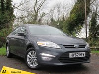 USED 2012 62 FORD MONDEO 2.0 ZETEC TDCI 5d GREAT BOOT SPACE AN ALL ROUND ECONOMICAL FAMILY HATCHBACK