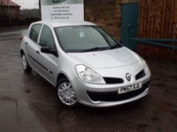USED 2007 57 RENAULT CLIO 1.1 EXPRESSION 16V 5d 75 BHP ONLY 20,000 Miles One Former Owner