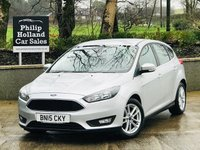 USED 2015 15 FORD FOCUS 1.6 ZETEC TDCI 5d 114 BHP Full service history, £20 Tax, Bluetooth, DAB radio, Air con