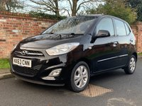 USED 2013 63 HYUNDAI I10 1.2 ACTIVE 5d 85 BHP 1 OWNER, FULL SERVICE HISTORY, MOT DEC 19, £20 ROAD TAX, EXCELLENT CONDITION,  ALLOYS, AIR CON, E/WINDOWS, R/LOCKING, FREE  WARRANTY, FINANCE AVAILABLE, HPI CLEAR, PART EXCHANGE WELCOME,