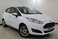 USED 2013 13 FORD FIESTA 1.2 ZETEC 5DR 81 BHP Full Service History FULL SERVICE HISTORY + BLUETOOTH + MULTI FUNCTION WHEEL + AIR CONDITIONING + RADIO/CD/AUX/USB + ELECTRIC WINDOWS  +15 INCH ALLOY WHEELS