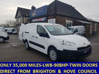2012 PEUGEOT PARTNER 750s LWB WITH ONLY 35,000 MILES FROM BRIGHTON AND HOVE COUNCIL £6195.00