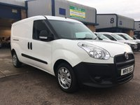 USED 2015 15 FIAT DOBLO 1.6 16V MULTIJET 1d 105 BHP LONG WHEEL BASE, 50,000 MILES, FINANCE ARRANGED & 6 MONTHS WARRANTY. Rare long wheelbase with twin side loading doors, 6 months Premium Autoguard warranty, 50,000 Miles, 1 owner, Electric Windows, Power Steering, Remote Central Locking, Side Load Door, ABS, Height Adjustable Seat, Adjustable Steering Column, Air Bag, CD Player, Radio, ply lined, bulk head & finance arranged