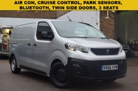 USED 2016 66 PEUGEOT EXPERT 1.6 BLUE HDI PROFESSIONAL STANDARD 1d 95 BHP Twin side sliding doors, AIR CON, steel bulkhead, parking sensors and electric windows are all fitted to this November 2016 Peugeot Expert 1000 1.6hdi PROFESSIONAL van in silver metallic.