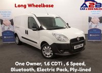 2015 FIAT DOBLO 1.6 16V MULTIJET 105 BHP, 6 SPEED Long Wheel Base, Bluetooth, AUX, CD Player, Electric Pack, Ply-lined £5480.00