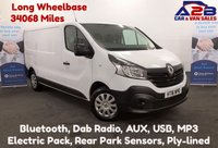 USED 2016 16 RENAULT TRAFIC 1.6 DCi BUSINESS 115 BHP LONG WHEEL BASE, Low Mileage 34068, One Owner, Bluetooth, DAB Radio, 3 Seats, Ply Lined. 6 Speed Gearbox *Over The Phone Low Rate Finance Available*   *UK Delivery Can Also Be Arranged*           ___       Call us on 01709 866668