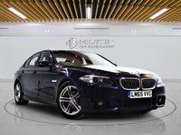 USED 2015 65 BMW 5 SERIES 2.0 520D M SPORT 4d AUTO 188 BHP + Sat/Nav, Leather Interior, Blueto