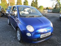 USED 2010 60 FIAT 500 1.2 POP 3d 69 BHP 30 POUNDS LOW ROAD TAX SERVICE HISTORY