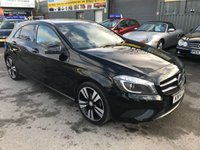2014 MERCEDES-BENZ A CLASS 1.5 A180 CDI BLUEEFFICIENCY SPORT 5 DOOR AUTO 109 BHP IN BLACK WITH 77000 MILES IN IMMACULATE CONDITION. £10999.00