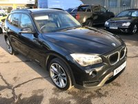 2013 BMW X1 2.0 XDRIVE20I SPORT 5 DOOR 181 BHP IN BLACK WITH 1 OWNER AND 83000 MILES AND A FULL SERVICE HISTORY. £9999.00