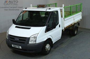 2011 FORD TRANSIT 2.4 350 100 BHP MWB S/CAB TWIN WHEEL TIPPER £6490.00
