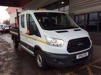 USED 2016 16 FORD TRANSIT 2.2 TDCI TIPPER 7 SEAT 4DR CREW CAB LWB 3.5T 350 L3H1 7 SEATS LONG WHEEL BASE HYDRAULIC TIPPER