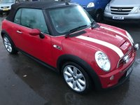 2006 MINI CONVERTIBLE 1.6 COOPER S 2d 168 BHP IN RED WITH 73000 MILES AND FULLY DOCUMENTED SERVICE HISTORY. £3299.00