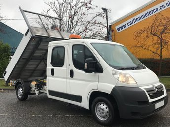 2012 CITROEN RELAY  35 2.2Hdi 130 L3 D/Cab 6 seats ( Tipper & Swing Lift Crane ) SRW  £10950.00