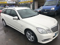 USED 2011 61 MERCEDES-BENZ E CLASS 2.1 E220 CDI BLUEEFFICIENCY EXECUTIVE SE 5 DOOR AUTO 170 BHP IN IMMACULATE WHITE WITH WITH BLACK LEATHER INTERIOR AND 116000 MILES. APPROVED CARS ARE PLEADED TO OFFER THIS 2011 MERCEDES E220 CDI EXECUTIVE SE 5 DOOR AUTOMATIC ESTATE IN A STUNNING WHITE WITH A BLACK LEATHER INTERIOR,SAT NAV,ALLOYS,BLUETOOTH AND MUCH MORE WITH A FULL SERVICE HISTORY AND IS IN IMMACULATE CONDITION INSIDE AND OUT AND HAS 2 PREVIOUS OWNERS.