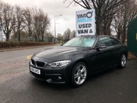 USED 2015 15 BMW 4 SERIES 2.0 420D M SPORT 2d AUTO 188 BHP All Vehicles with minimum 6 months Warranty, Van Ninja Health Check and cannot be beaten on price!